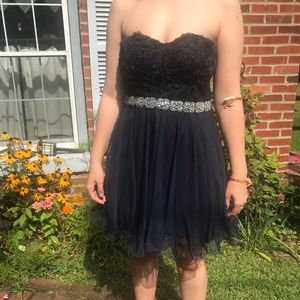 Navy Blue Semi Formal/Homecoming Dress